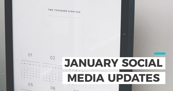 January social media updates header photo
