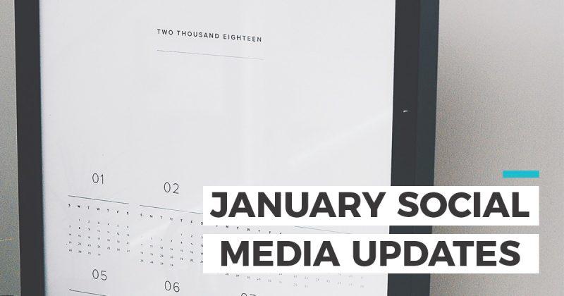 January social media updates header photo